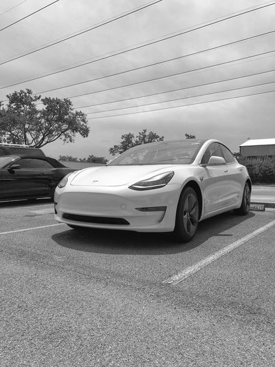 Tesla Model 3 New Technology Industrial Car Tesla Model 3 Tesla Teslamotors Electric Car Electric Electricity  Automobile Automotive Car Motor Vehicle Transportation Mode Of Transportation Land Vehicle Day No People on the move Travel Motion Outdoors