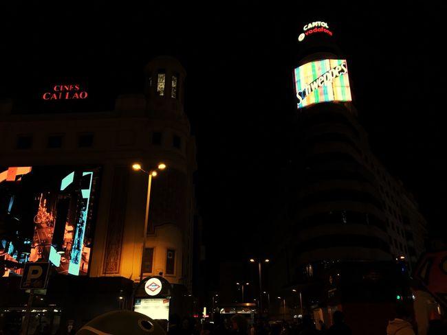 Madrid Night Lights Night Callao SPAIN Cold First Eyeem Photo