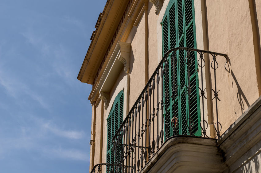 Andratx Architecture Building Exterior Built Structure Day Low Angle View Majorca Mallorca No People Outdoors Railings Railings And Iron Sky SPAIN Window