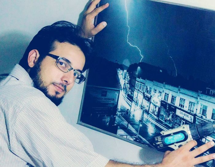 Eyeglasses  Beard Working Indoors  Me Nostalgic Landscape Canon7d  Libya Misrata My Stuff Looking At Camera