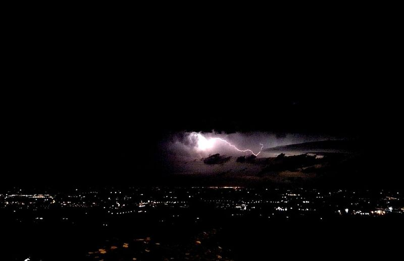 Night Exploding Arts Culture And Entertainment Lightning Power In Nature Illuminated No People Outdoors Sky Nature