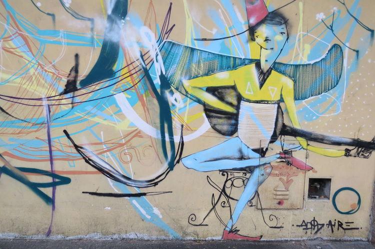 Belgrano Creativity Day Graffiti Multi Colored Mural No People Outdoors Streetart