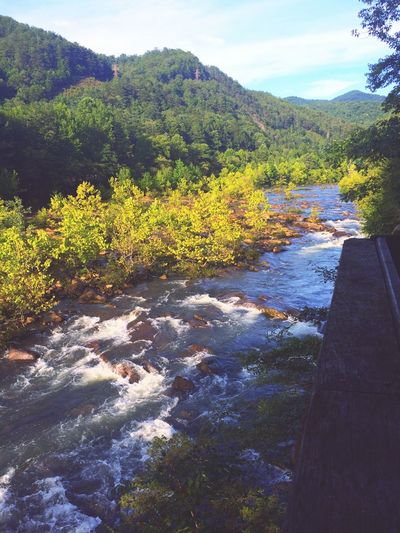 Sunshine Water River Mountains