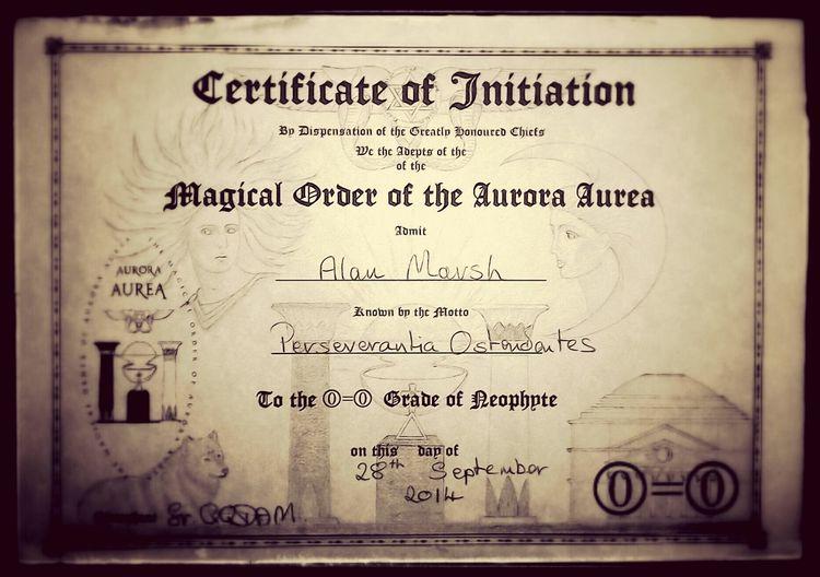 Magic Goldendawn Neophyte Member Magical Order