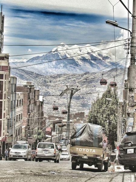 Illimani, la Paz Bolivia. View from el Tejar Lapaz Bolivia Illimani Teleferico Ciudades Del Mundo