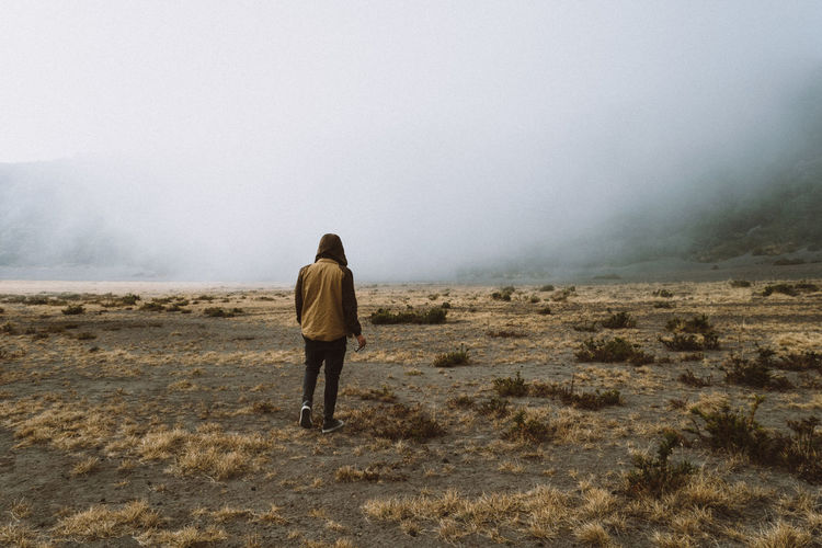 Beauty In Nature Casual Clothing Cold Fog Foggy Foggy Day Jacket Landscape Landscapes Lifestyles Nature Non-urban Scene Outdoors Overcast Portrait Remote Scenics Sweater Tranquil Scene Tranquility VSCO