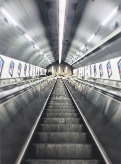 Metro Vienna Escalator U4 Upupandaway Riding Aligned Circle Climbing Lumière The Architect - 2016 EyeEm Awards
