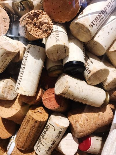 Full Frame Backgrounds Large Group Of Objects No People Abundance High Angle View Still Life Wine Cork Close-up