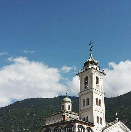 Church Architecture Perfect Sky Moutain Italia Susa