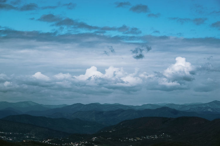 Beauty In Nature Blue Cloud Cloud - Sky Cloudy Day Horizon Over Land Idyllic Landscape Majestic Mountain Mountain Range Nature No People Non-urban Scene Outdoors Remote Scenics Sky Sochi Tranquil Scene Tranquility Weather