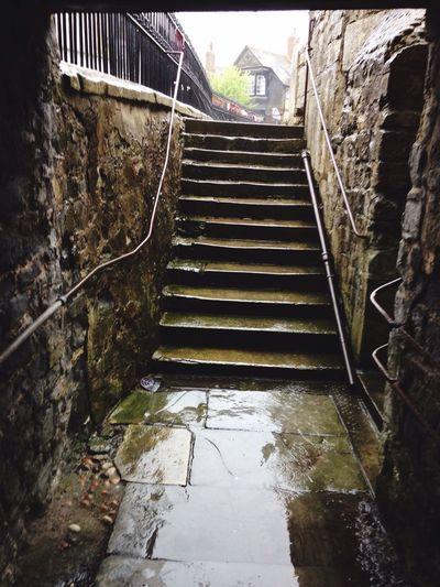 Rain Stairs Stairway Walking i dont mind the rain Home Britishweather