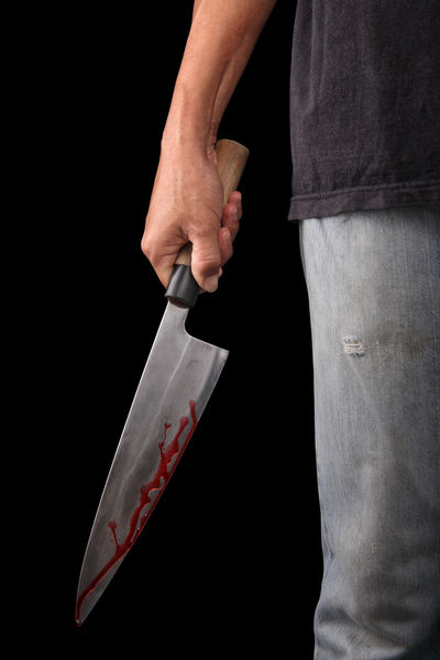 criminal Evil EyeEmNewHere Aggression  Black Background Blood Close-up Communication Crime Criminal Criminaldamage Criminality Criminalminds Criminals Hand Holding Human Body Part Human Hand Indoors  Kitchen Knife Knife - Weapon One Person Sharp Social Issues Violence Warning Sign
