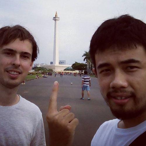 Monas Statue, Jakarta indonesia... Couchsurfing Jakarta INDONESIA Australia Travel Trip CityTour