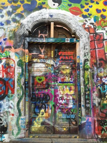 Prague Lennon wall Prague Lennon Wall Graffiti Art Colour