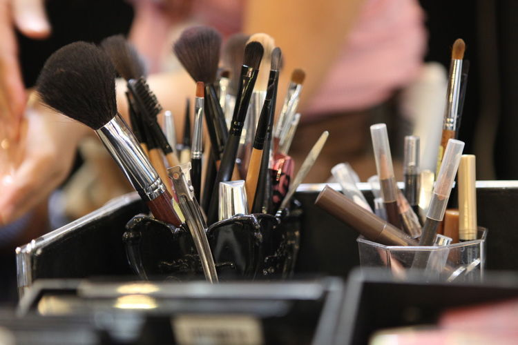 Paintbrush for make-up artist Paintbrush Brush Make-up Make-up Brush Creativity Art And Craft Container Close-up Beauty