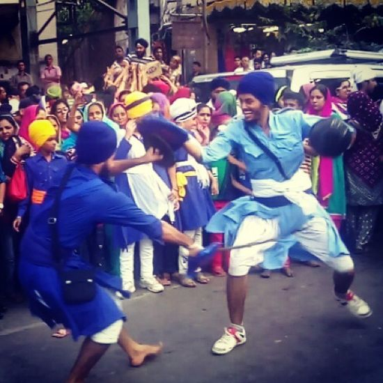 👈Showcasing our talent in front of everyone. Feeling proud Snap At Nagar Keertan Gatka Sikh Martial Arts Proud To  Be A Sikh IshPhotography📷