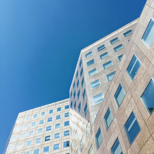 Architecture Blue Building Exterior Built Structure City Day Elégance Futuristic Low Angle View Modern No People Office Park Outdoors Sky Window