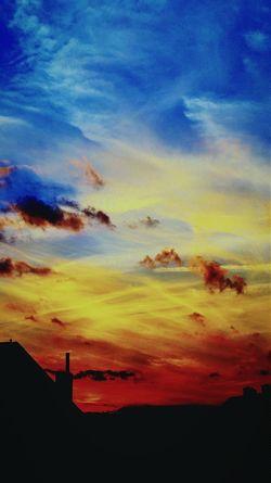 Sunset Clouds Colors Sky Horizon