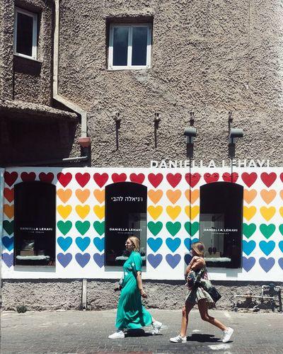 Multi Colored Full Length Pedestrian City Life Sidewalk City Street Street Women Walking Summer In The City