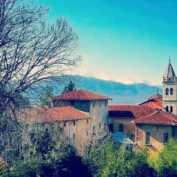 Saluzzo  Piedmont Italy Italia weekendsunnydayskybluskycolorsmountainawesomenaturetravelpostcardinstapicturesartarchitecture