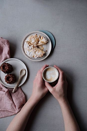 sweet day Hand Coffee Time Coffee Cup Coffee Patisserie Cake Baked Sweet Food Pastry EyeEm Selects Human Hand Human Body Part Food And Drink High Angle View Bowl Breakfast Directly Above