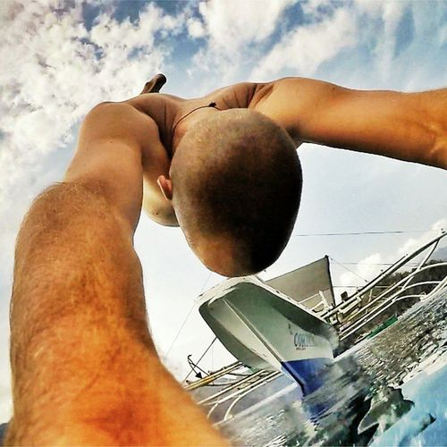 Lets Jump everyone for more Adventure ! ✌🌊🌞🏄💓🌎🌍🌏☺👉😍 Travelingtheworld  Traveling Coron Palawan Jumping Boat Sea Friends