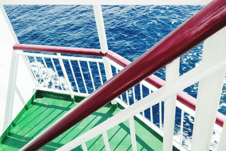 sRGB-Series 1 Red Green Blue Geometric Shapes Light And Shadow Ocean Boat Enjoying Life Traveling Ferryboat
