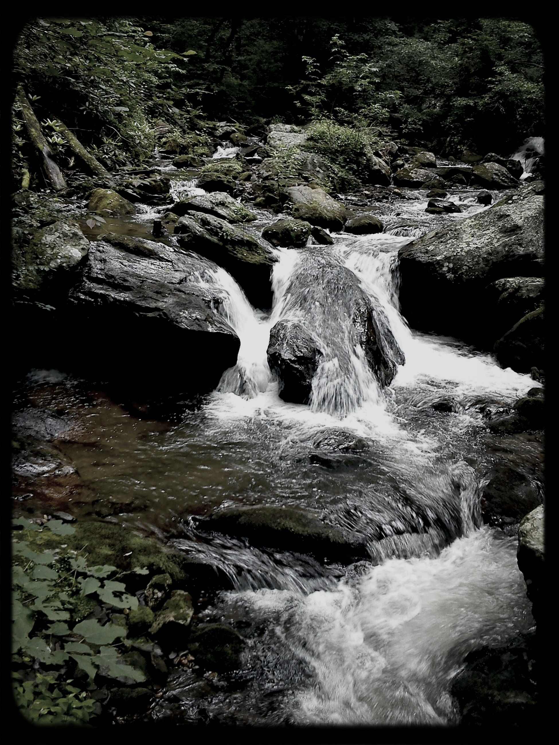 water, transfer print, rock - object, auto post production filter, motion, flowing water, waterfall, beauty in nature, nature, flowing, surf, scenics, waterfront, rock formation, rock, river, stream, long exposure, splashing, outdoors