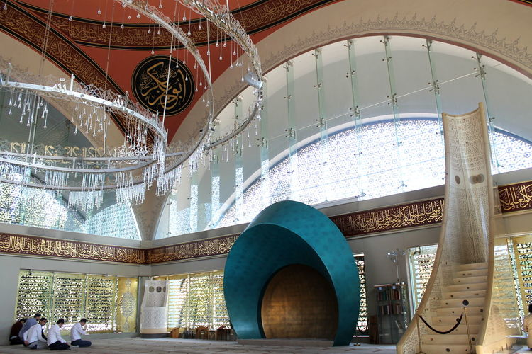 Istanbul Modern Modern Architectural Modern Architecture Turkey Architecture Built Structure Cami Day Female Female Architect Indoors  Library Low Angle View Moschee Mosque Place Of Worship Prayers Praying şakirin şakirincamii