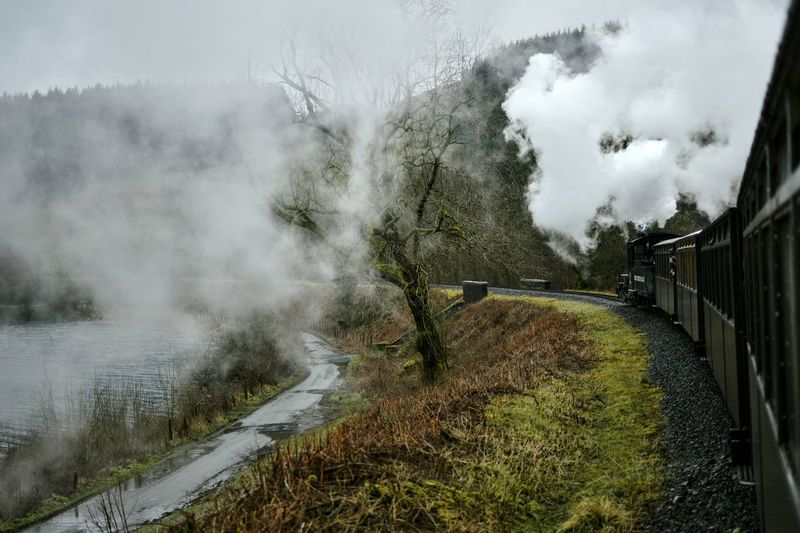 Steam Train Brecon Beacons Wales Harry Potter Water Tree