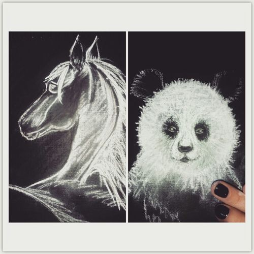 Handmade Pastel Paint Animals