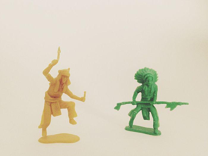 Cowboys And Indians Plastic Toys Super Retro Figurines