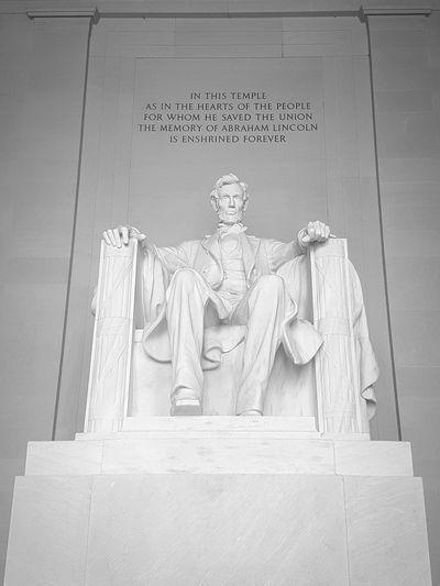 Lincoln Memorial, Washington D.C. Abraham Lincoln Statue National Mall, Washington, DC