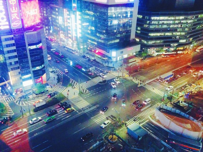 Japan Tokyo Road Night Lights Street