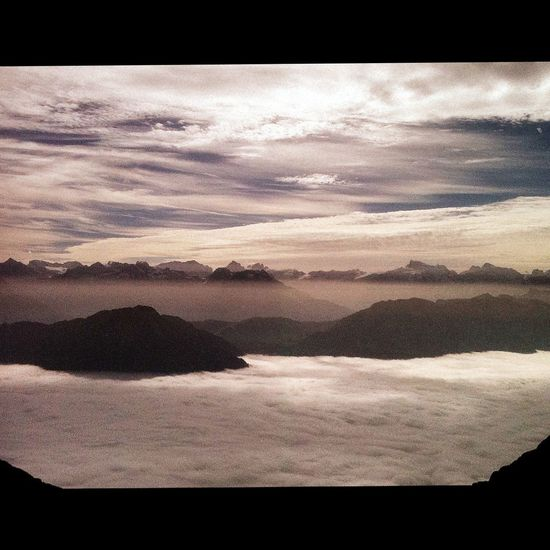 sea of fog... Landscape Mountains Pilatus Switzerland
