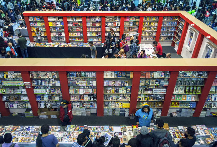 Abundance Books City Life Comic Comic Books Comics Convention Crowd Day Fantastic Exhibition Leisure Activity Library Lifestyles Manga Otaku People