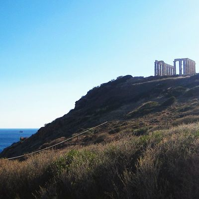 Took two-hour bus trip to visit Temple of Poseidon (June 2014).