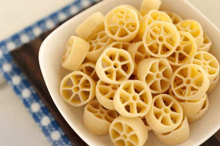Rotelle pasta. Dry Italian pasta. Italian Pasta Noodles Classic Food Close-up Dry Pasta Egg Dry Pasta Egg Pasta Food Food And Drink High Angle View Italian Food No People Pasta Rotelle Rotelle Pasta Still Life Table Traditional Food