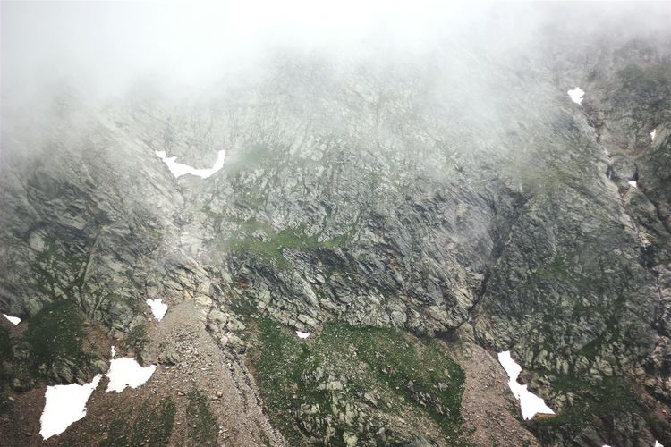 Rock Nature Fog