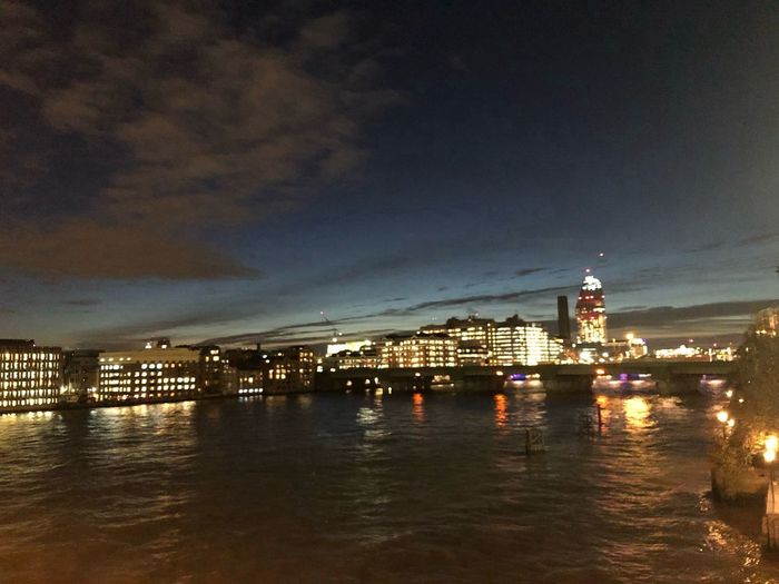 Postcode Postcards River Thames At Night Illuminated Blackfriars Bridge Night No People Waterfront Cityscape Water Architecture Building Exterior Cloud - Sky Sky