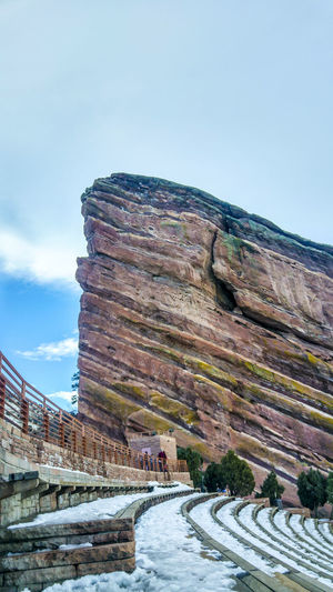 Red Rocks Amphitheatre, Colorado, USA Architecture Built Structure Canyon Clear Sky Colorado Day Denver,CO Fort History Nature No People Old Ruin Outdoors Red Rocks Amphitheater Red Rocks Amphitheatre Sky Travel Destinations USA Weathered Winter