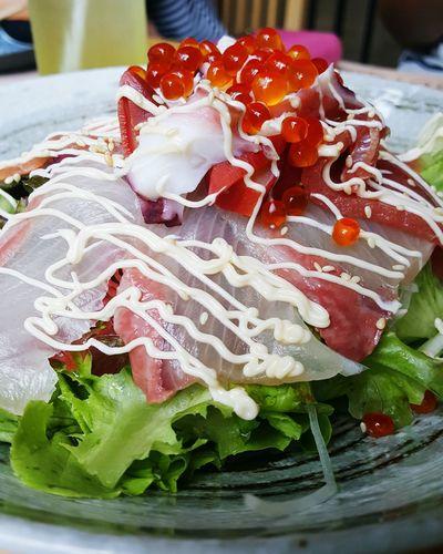Japanese Food Salad Sushi Egg Vegetable Organic Food