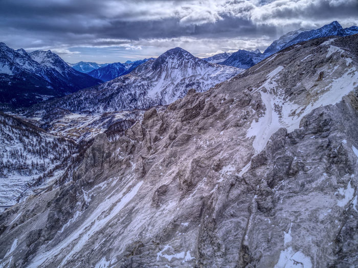 Drone  Aerial Photography Beauty In Nature Cloud - Sky Cold Temperature Dronephotography Landscape Mountain Mountain Range Nature No People Outdoors Physical Geography Scenics Sky Snow Snowcapped Mountain Tranquil Scene Tranquility Winter
