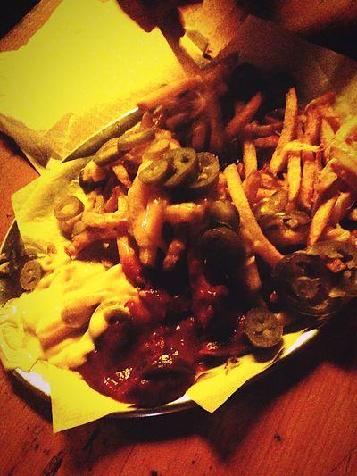 Having a Midnight Snack! Fries - Cheese Jalapeños