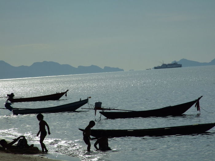 Samui, Thailand Beauty In Nature Kids Lifestyles Nature Outdoors People Real People Sea Sky