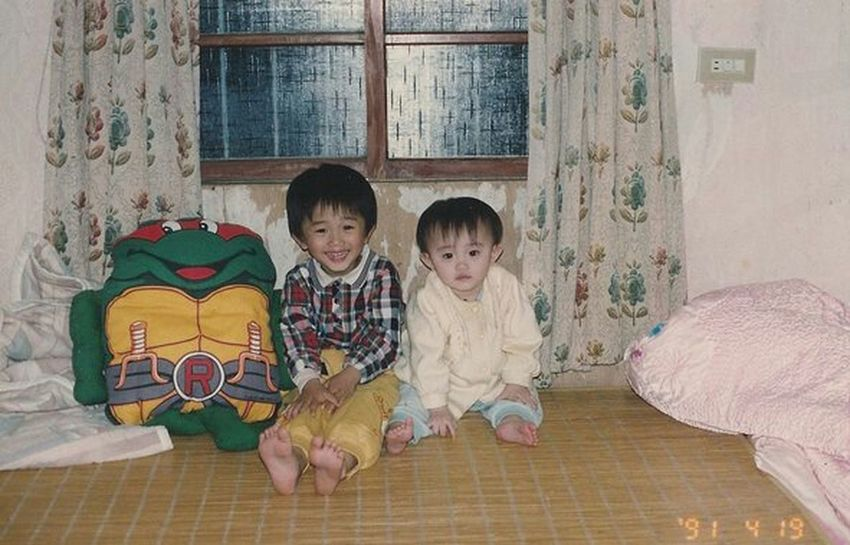 Me And My Sister Children Oldpicture Ninja Turtles