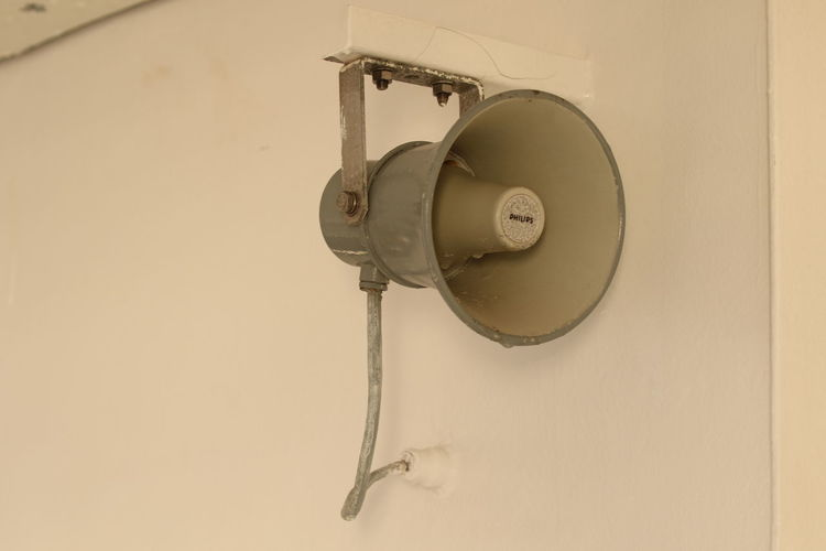 Noise PA System Announcement Can You Hear Me? Close-up Communication Day Indoors  Information Loud Loudspeaker No People