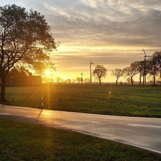 Gestern der Sonnenaufgang an der Kreuzung in Pfalzdorf ... das wird wohl dieses Wochenende nix :( Trotzdem euch allen einen schönes 1. Advent Wochenende! Pictureofthedays Aurich Ostfriesland Germany