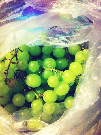 Crushing some grapes .!