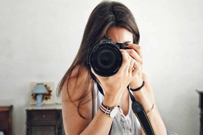 Photographer One Person One Woman Only People Lifestyles Women Only Women Camera - Photographic Equipment Indoors  Day Technology Photography Themes Photographing Portrait Adults Only Holding Leisure Activity Nikon Nikonphotography Travel Destinations Sardegna Travelphotography Trip Camera